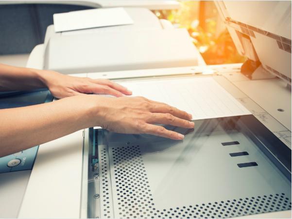 Chia bộ điện tử thông minh với máy photocopy