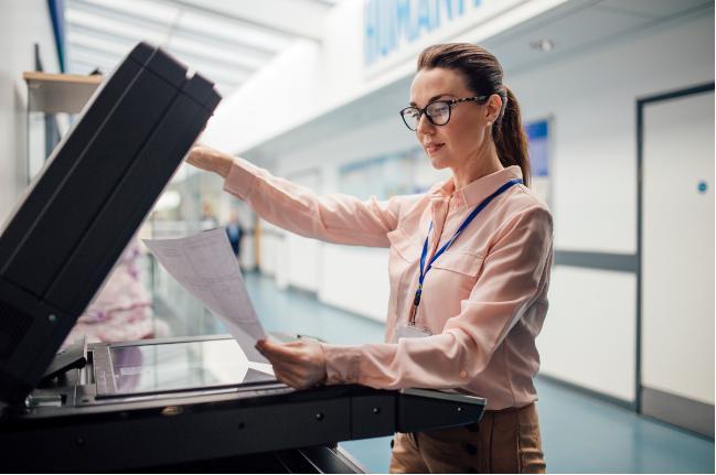 Máy photocopy giúp photo văn bản