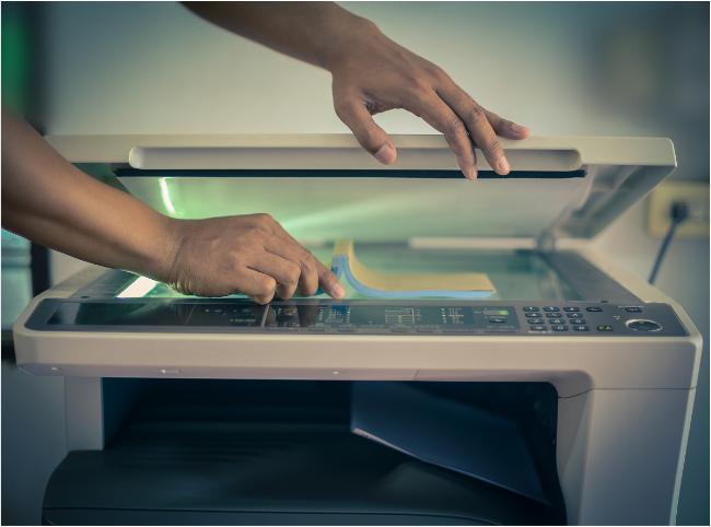 Scan là tính năng vô cùng tuyệt vời của máy photocopy